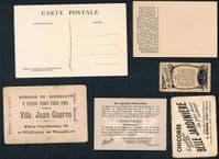 1920 -60 instant collection 6 boat race rowing trade cards Spain France & Germany SEEN IN MY BOOK!